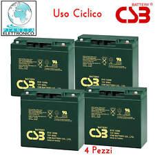 KIT 48V 04 Batterie al piombo ad uso ciclico 12v 20Ah per mezzi a trazione