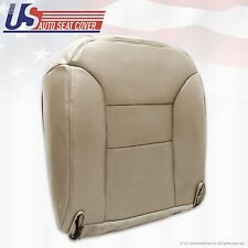 95-99 Chevy Tahoe Suburban Driver Side Leather Bottom Seat Cover Med Neutral Tan