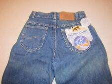 NWT VINTAGE LEE STORM RIDER STUDENT REGULAR FIT STRAIGHT LEG DENIM JEANS 26W 34L