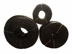 BLACK Poly Rope Coils, Polyrope, Nylon, Polypropylene Polyprop,Tarpaulins