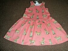 NEW girls h+m orange animal summer dress 4 - 5 - 6 YEARS  - bnwt