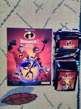 PANINI EMPTY ALBUM STICKERS INCREDIBLES 2 + 50 sachets  250 stickers