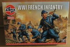 AIRFIX WW1 FRENCH INFANTRY 1:76 SCALE MODEL SOLDIERS UNPAINTED PLASTIC