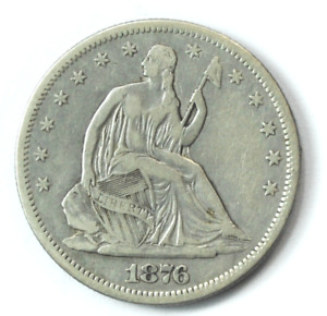 1876 S 50c Seated Liberty Silver Half Dollar Fifty Cents San Francisco