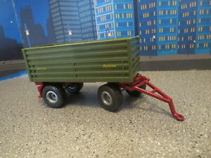 Toy Vehicle 1:55 Scale Siku Free Shipping! Pick-Up With Tipping Trailer