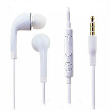 In-Ear Stereo Headset White PVC Earphone Headphone For Samsung Galaxy S6/S5/S4