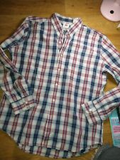 Levi Blue /Red Check Shirt Long Sleeved Size Xl ( 44 inch )