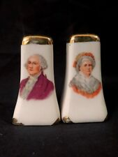 Vintage George and Martha Washington Salt and Pepper Shakers, mini size
