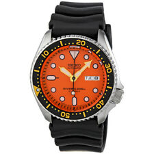 Seiko 5 SKX011 J1 Black Orange Automatic Analog Divers Watch with Seiko Box