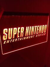 SUPER NINTENDO LED Sign for Game Room,Office,Bar,Man Cave US SELLER. SNES