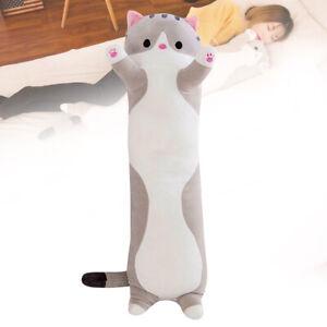 50cm Long Cute Cat Doll Plush Toy Soft Stuffed Kitten Kids Sleeping Pillow US