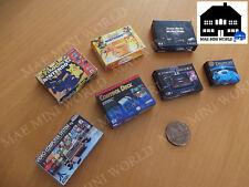 7 Cajas consolas miniatura. Escala 1/12.