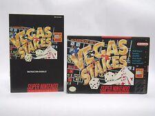VEGAS STAKES Box & Manual only SNES SUPER NINTENDO