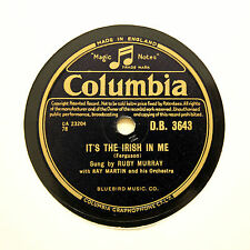 """RUBY MURRAY """"It's The Irish In Me / I'll Come When You Call"""" COLUMBIA [78 RPM]"""