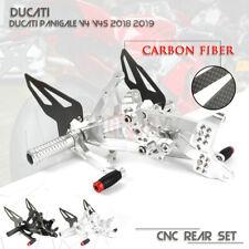 CNC Adjustable Footrests Rearset Rear Sets For Ducati Panigale V4 V4S 2018 2019
