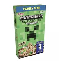MINECRAFT Cereal Large 12.7oz Creeper Crunch with Game Code Limited Edition