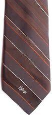 """Allyn St. George Men's Vintage Tie 55"""" X 3.25"""" Brown w/ red/tan American Stripes"""