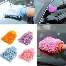 Car Cleaning Microfibre Cloth Glove Mitt Washing Polishing Duster Random Color F