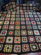 Vintage Granny Square Afghan- In Beutiful Condition