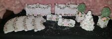 Pink Victorian Christmas Village Pink Christmas Village Pink Accessory Set Trees