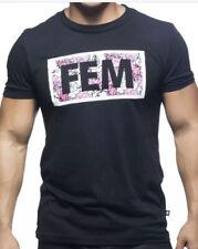 """Andrew Christian, Black, """"FEM"""", Gay, Submissive,T-shirt"""