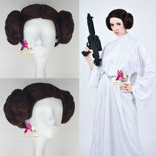 Star Wars Princess Leia Organa Wig Brown Color with two Bun Anime Cosplay Wig