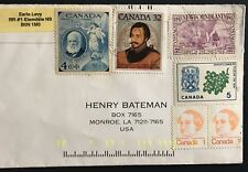 Canada cover multi-franked 1992 Nova Scotia to USA