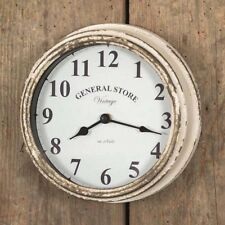 General Store CLOCK Distressed Weathered Farmhouse Industrial Vintage Look