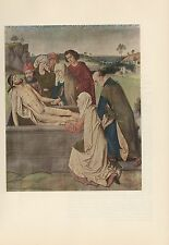 "1956 Vintage FLEMISH ""THE ENTOMBMENT"" JESUS CHRIST DIERIC BOUTS COLOR Lithograph"