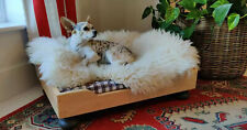 Natural wooden dog bed
