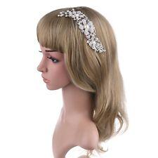 ELegant Bridal Wed Hair Comb Crystal Pearl Flower HairClip Bridesmaid Headpiece