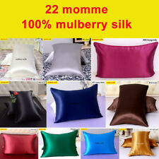 1pc 22 Momme 100% Mulberry Silk Pillow Cases Covers Pillowcases Zipper All Size