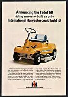 1968 INTERNATIONAL HARVESTER Cadet 60 Garden Tractor Riding Lawn Mower Photo AD