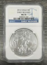 2012 NGC MS70 $1 Early Releases American Eagle Coin