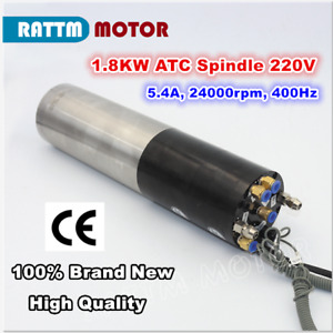 1.8KW 220V Water Cooled Automatic ATC Tool Change Spindle Motor CNC Mill Machine