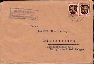 """Fr. Zone 1946 - Landpost """"Bösenreutin über Lindau""""   (#9032)"""