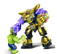 THANOS - Hulk Iron Man vs. Mech robot Infinity Gauntlet - LEGO AVENGERS