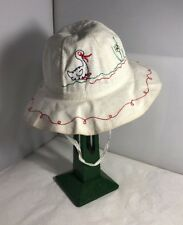 Vintage Unused French Childs Girls Summer Hat Bonnet 1960s 1970s Retro Duck
