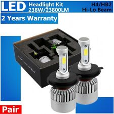 2 SET H4 238W 23800LM High-Low Beam COB LED Headlight Bulbs HB2 9003 6500K KIT
