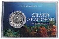 Samoa 1 Oz Silber Seepferdchen 2018 Reverse Proof im Blister