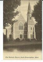 CG-086 MA, South Framingham The Catholic Church Undivided Back Postcard