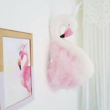 Swan Hanging Sculpture Wall Ornament for Children Bedroom Home Decor Pink