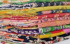Kantha Quilt Vintage Handmade Cotton Blanket Indian Twin Bedspreads Gudari 5 PCs