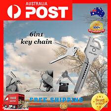 Stainless Steel SWISS+TECH Tool Utili Key 6 in 1 Keychain EDC Multi-Tool Keyring