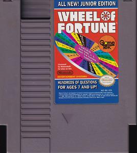 WHEEL OF FORTUNE: JUNIOR EDITION (1989) nes nintendo rare us NTSC USA IMPORT