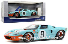 Solido 1:18 1968 Light Blue Ford GT40 Gulf 24H Le Mans #9 Diecast Car S1803001