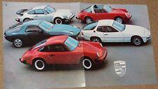 FOLLETO de Porsche incl 924 911SC & Turbo & 928 - 1978-79 - como Nuevo