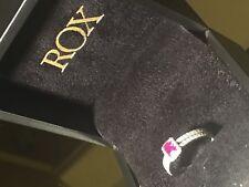 18ct White Gold Rox Ruby & Diamond Ring Size N 1/2