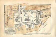 Carta geografica antica OLYMPIA OLIMPIA pianta città scavi 1890 Old antique map