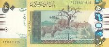 SUDAN 50 POUNDS 2006 P-69 LIGHT YELLOW COLOR PREFIX ( FB ) UNC */*